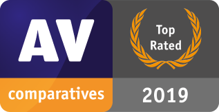 AV-Comparatives 2019 Award Toprated