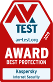 AV-TEST Award 2019 Best Protection