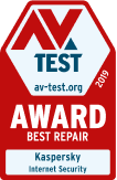 AV-TEST Award 2019 Best Repair