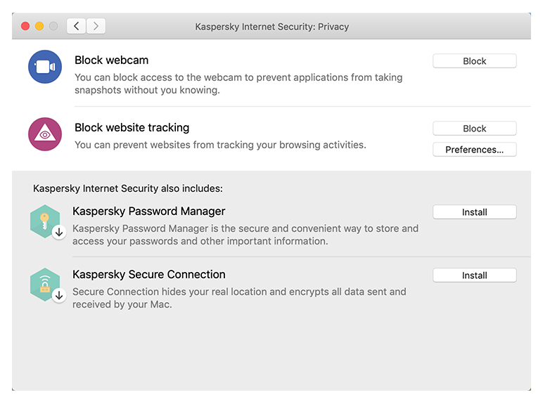 Kaspersky Mac Internet Security - Safe Money