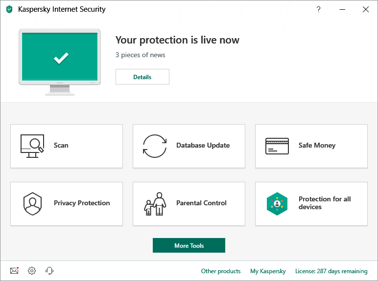 Kaspersky Internet Security Scan