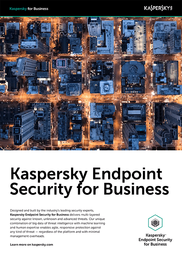 KASPERSKY ENDPOINT SECURITY FOR BUSINESS DATASHEET